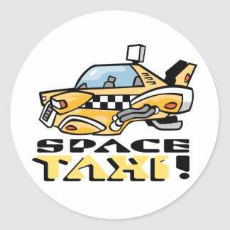 Space Taxi! Classic Round Sticker
