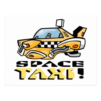 Space Taxi! Postcard