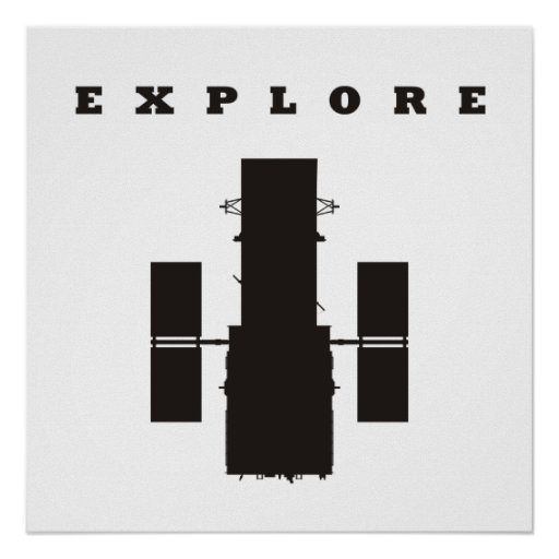 Space Telescope Poster