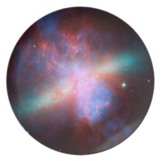 Space Telescopes Showing Stunning View Starburst Plate