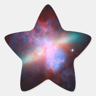 Space Telescopes Showing Stunning View Starburst Star Sticker