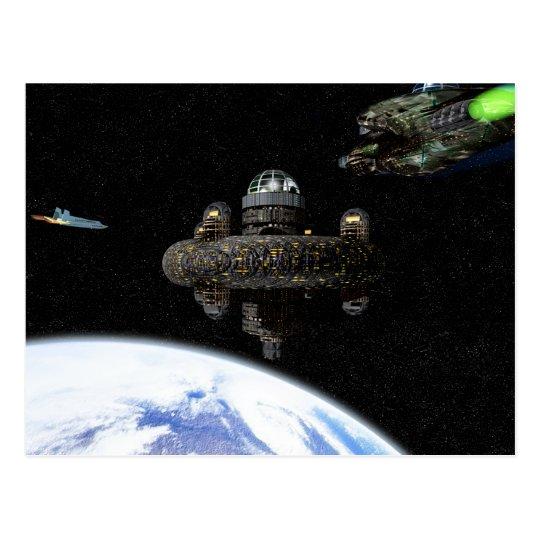 Space Terminal postcard