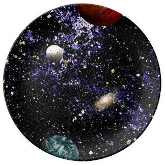 SPACE THE FINAL FRONTIER (composition 1) ~.jpg Porcelain Plates