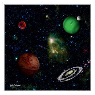 SPACE THE FINAL FRONTIER Supernova  Neighborhood ~ Poster