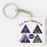 Space: The Next Generation Square Acrylic Keychains