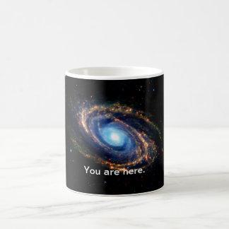 Space, the universe & a spiral galaxy mug