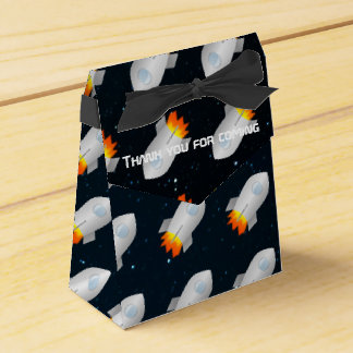 Space themed party personalised favor box