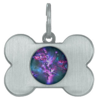 space themed pet tag
