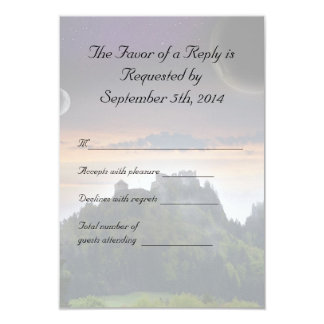 Space Themed Wedding RSVP 3.5x5 Paper Invitation Card