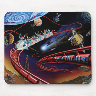 Space Thrills Cosmic Roller Coaster Artist Concept Mouse Pad