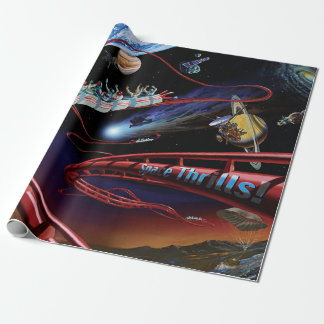 Space Thrills Cosmic Roller Coaster Artist Concept Wrapping Paper