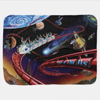 Space Thrills Roller Coaster Receiving Blankets