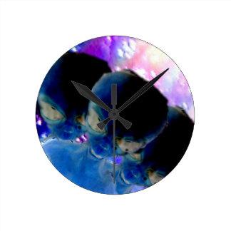 Space Time Round Clocks