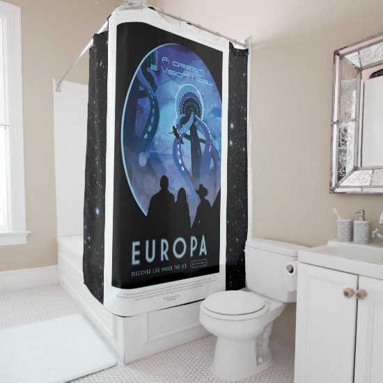 Space Tourism Advert: Europa, A Vision I saw Shower Curtain