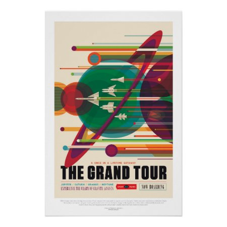 Space Tourism Advert - Solar System Grand Tour Poster
