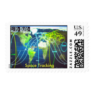 Space Tracking, Space Tracking Postage Stamp