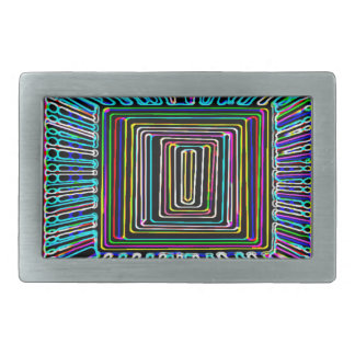 Space Travel Art - Fly Invisible Button Rectangular Belt Buckle