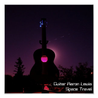 Space travel Back, Guitar Aaron LewisSpace Travel Poster