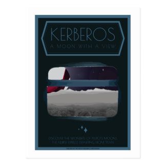 Space Travel Postcard - Kerberos