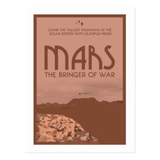Space Travel Postcard - Mars