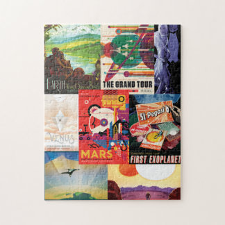 Space Travel Poster Jigsaw Puzzle