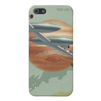 Space travel poster to jupiter iPhone 5 cover