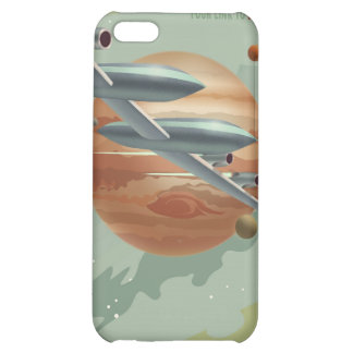 Space travel poster to jupiter iPhone 5C cover