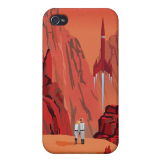 Space travel poster to mars iPhone 4/4S case