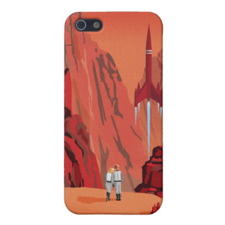 Space travel poster to mars iPhone 5 case