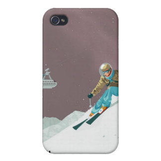 Space travel poster to pluto iPhone 4 case