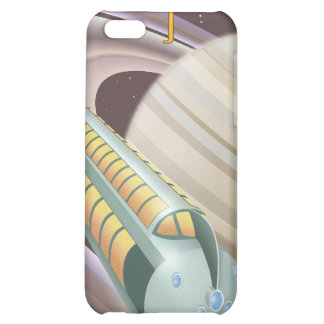 Space travel poster to saturn iPhone 5C covers