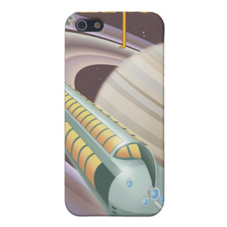 Space travel poster to saturn iPhone 5 cover