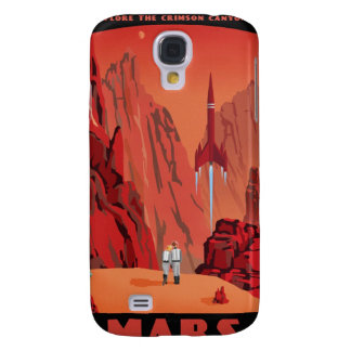 Space travel poster to the mars samsung galaxy s4 case