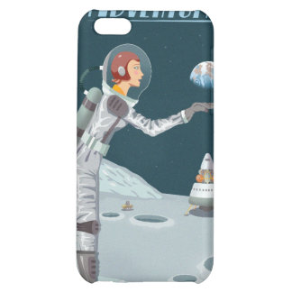Space travel poster to the moon iPhone 5C cases