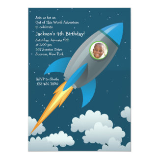 Space Traveler Photo Invitation
