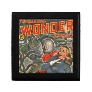 Space Travelers Attacked by Tentacle monster Keepsake Box