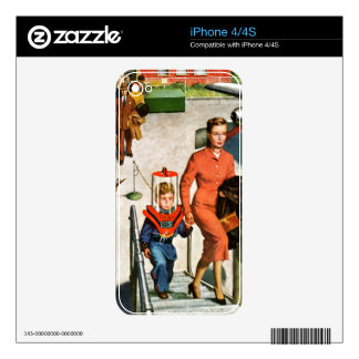 Space Traveller Decals For iPhone 4