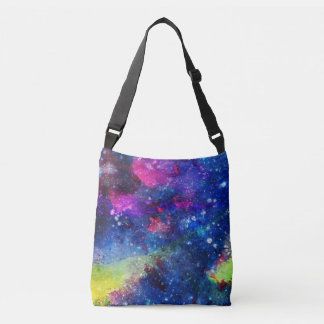 Space traveller spatial galaxy painting crossbody bag