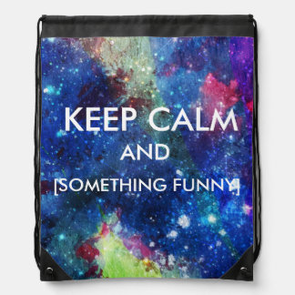 Space traveller spatial galaxy painting editable drawstring backpack