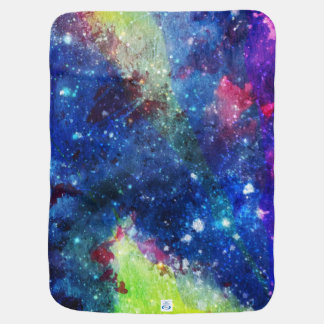 Space traveller spatial galaxy painting receiving blanket