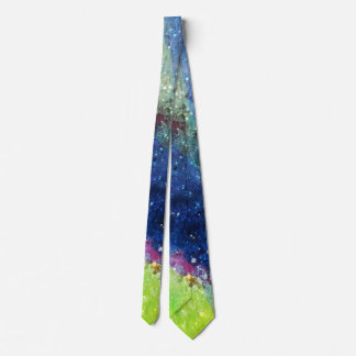Space traveller spatial galaxy painting tie
