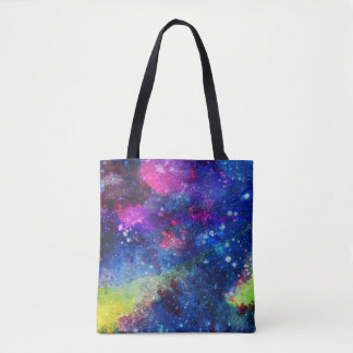 Space traveller spatial galaxy painting tote bag