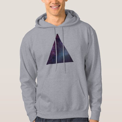 Space Triangle (Hoodie) Hooded Pullovers