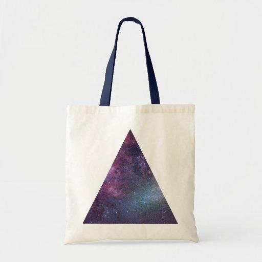 Space Triangle (Mini Tote) Budget Tote Bag