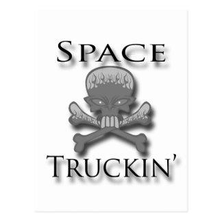 Space Truckin' blk Postcard