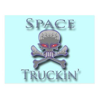 Space Truckin' blu Postcard