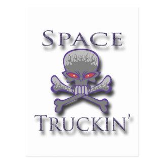 Space Truckin' prpl Postcard