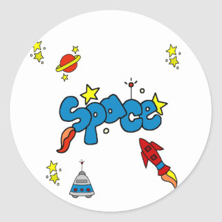 Space Tshirts and Gifts Classic Round Sticker