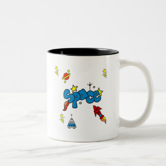 Space Tshirts and Gifts Two-Tone Coffee Mug