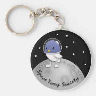 Space Tweep Button Keychain